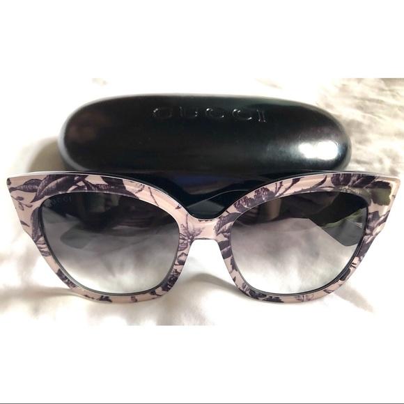 Authentic Gucci Floral Sunglasses-GG0059S-GORGEOUS